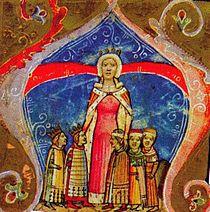 Piast Erzsébet, magyar királyné, a lengyel király testvére. A névnapja (1335. november 19.) adta az alkalmat a cseh, a lengyel és a magyar király visegráditalálkozójára