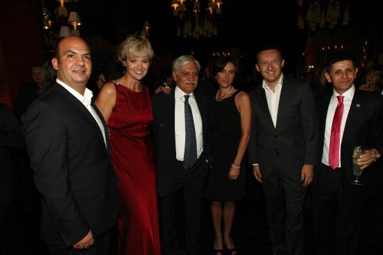 Grand Opening, a szálloda tényleges megnyitása, 2012 szeptemberében. A két szélen Sameer Hamdan és Zuahir Awad, középen Gian Pietro Bengheli, a Klotild-palota tulajdonosa és Rogán Antal polgármester  (Turizmus online, 2012. szeptember 17.)