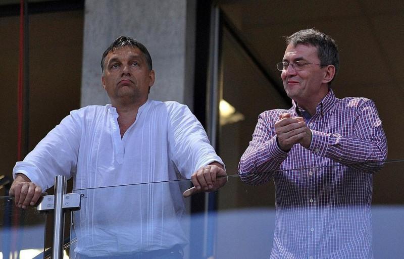 Orbán Viktor és Garancsi István meccset néz  (MTI, Kovács Attila felvétele)