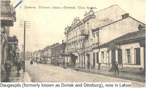 Utca Dvinskben 1940 előtt