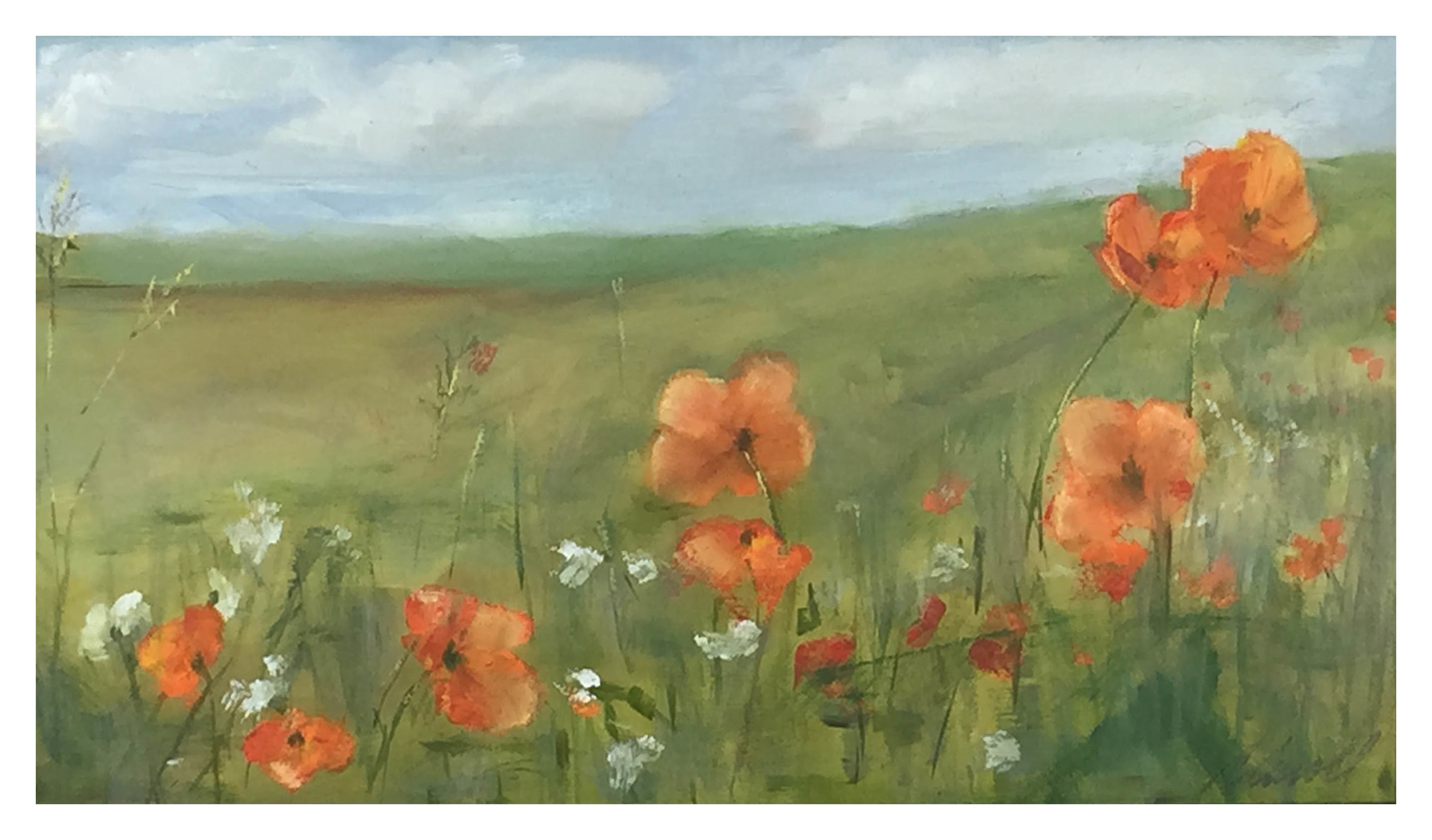 Cyclist's Poppies
