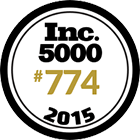 #774 of 2015 Inc.'s 5000 Fastest Growing Companies
