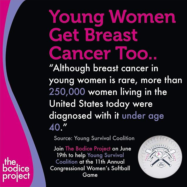 The Bodice Project recognizes EVERYONE affected by breast cancer and will be a part of this year's Congressional Women's Softball Game on June 19th.  The game will benefit Young Survival Coalition, which helps young people who have or have had breast cancer. #breastcancerawareness #youngsurvivalcoalition #thebodiceproject #congressionalwomenssoftballgame