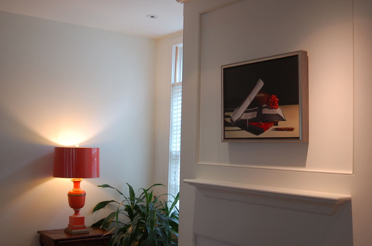 """Portrait of Donald Parker"" in a Philadelphia home."