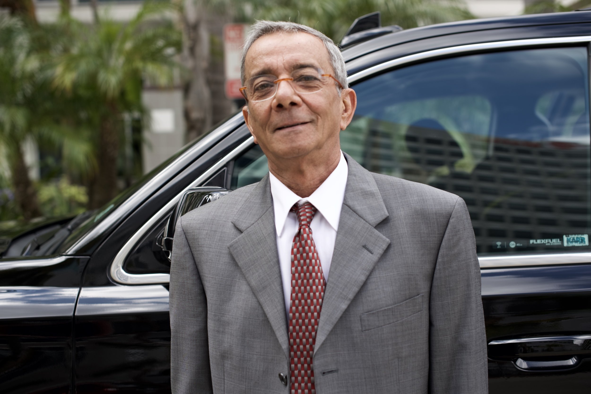 "Meet Adel from Egypt.  A driver for Crown Limo, he pulled up in a black Chevy Suburban to take me and my 9ft. board bag to LAX - not a small task.  After laying down the seats and resting the nose of my bag on the center console, he shrugged off any stress seeming to suggest - ""All in a day's work.""  His peaceful presence made getting to the airport a breeze."