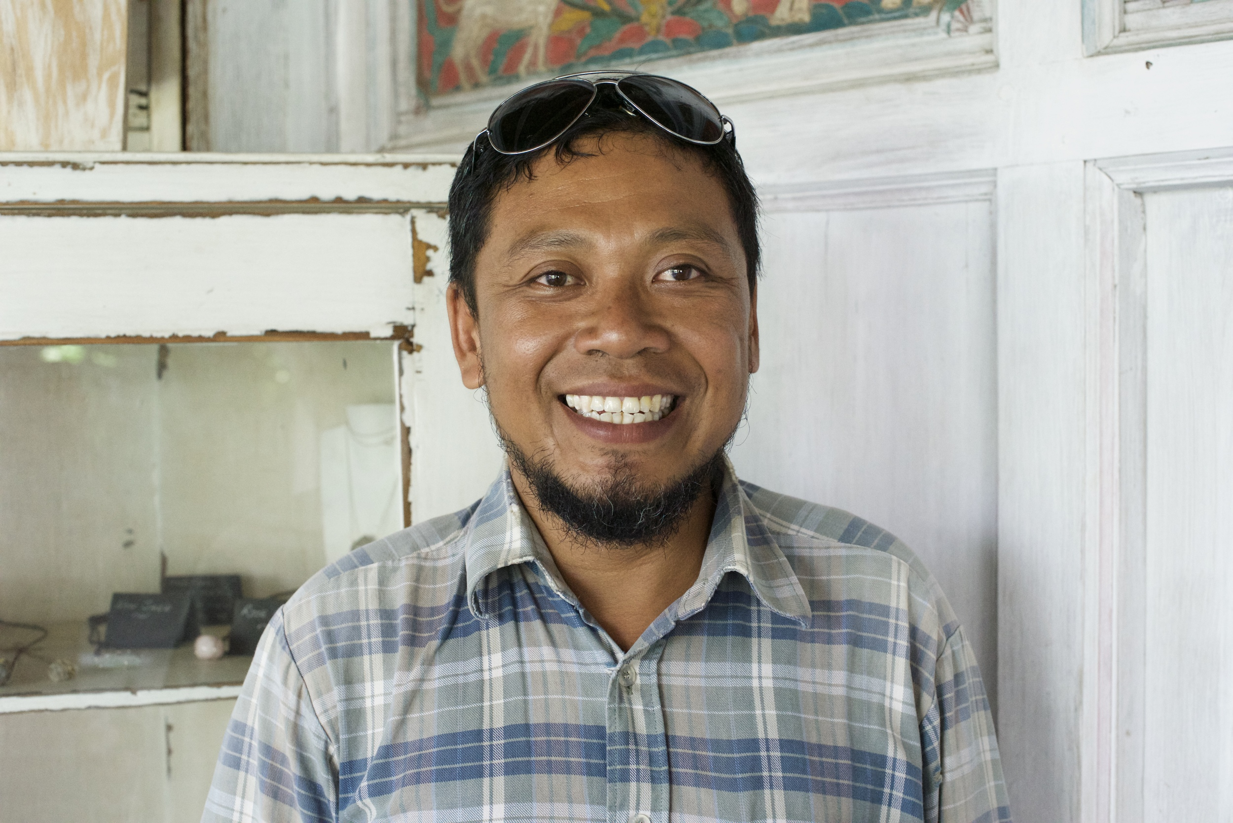 Meet Gede, The Pineapple House Villa manager.  This man was the epitome of gentleness.  Always bowing his head when he would shake your hand, his smile was infectious.  He would greet you as if you were the only one in the room.  Though my interactions were limited with him, he left an indelible imprint on me.