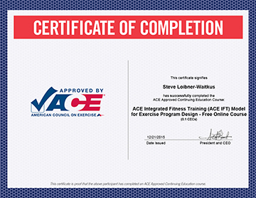 Personal Trainer Certifications Education Allen S Gym