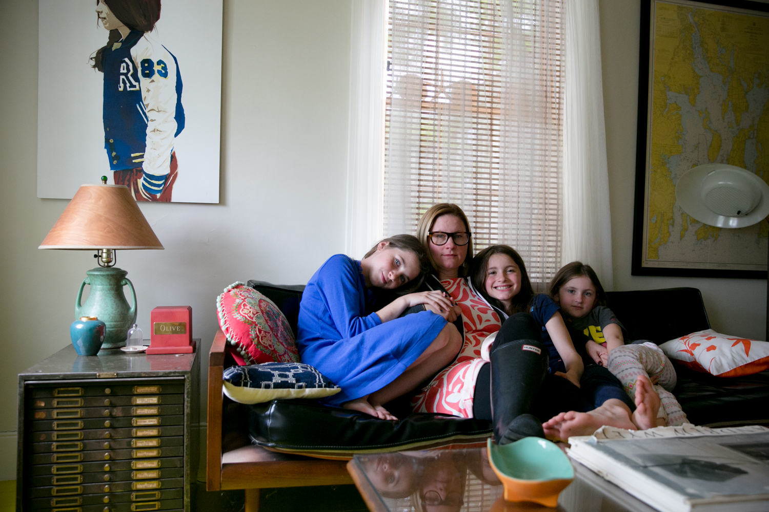 Self-Portrait with Daughters. Rhode Island,May 2017.