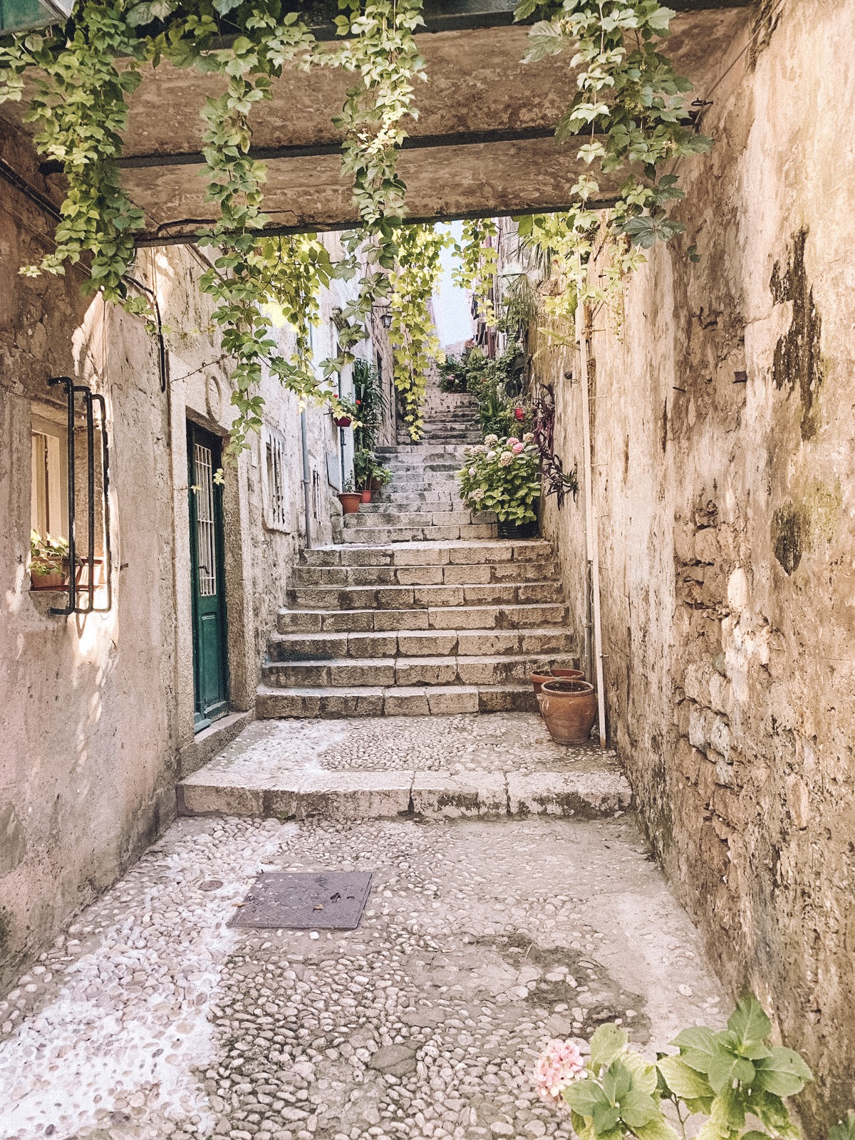 The charming steps to our Air BnB in Dubrovnik. Quite literally located a few steps away from the famous 'Shame' steps. (Anyone a GOT fan? We know you'll get it!)  Link: