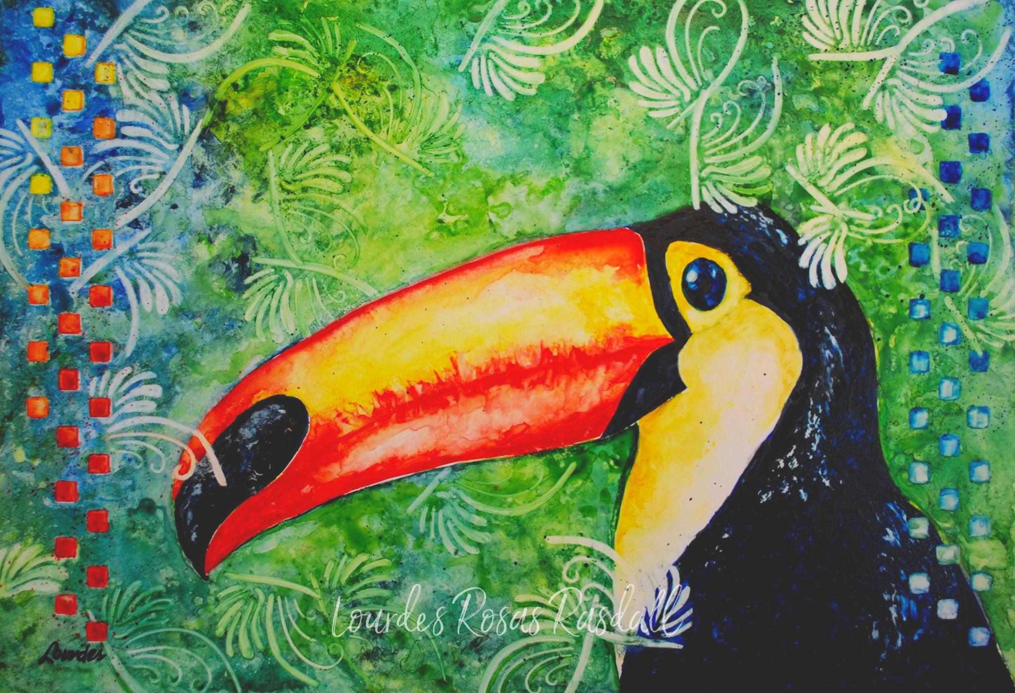 El Tucan | Watercolor Toucan Painting by Lourdes Rosas Rasdall