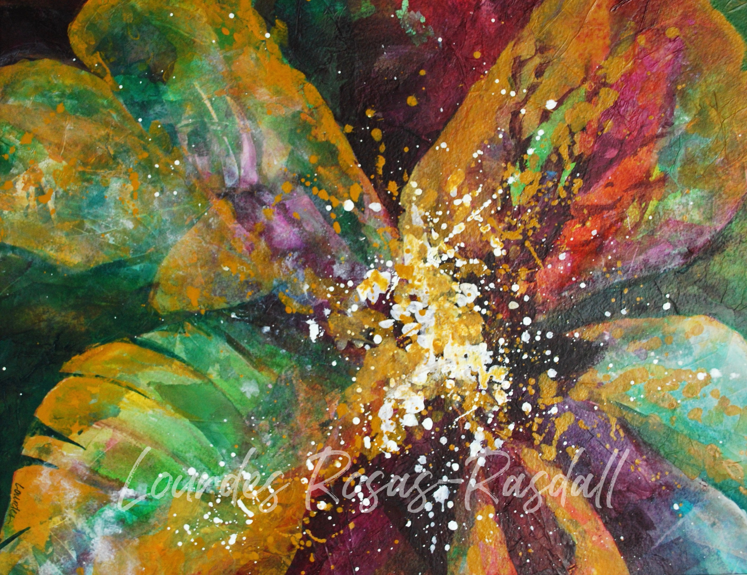 Breaking Through | Watercolor Painting by Lourdes Rosas Rasdall