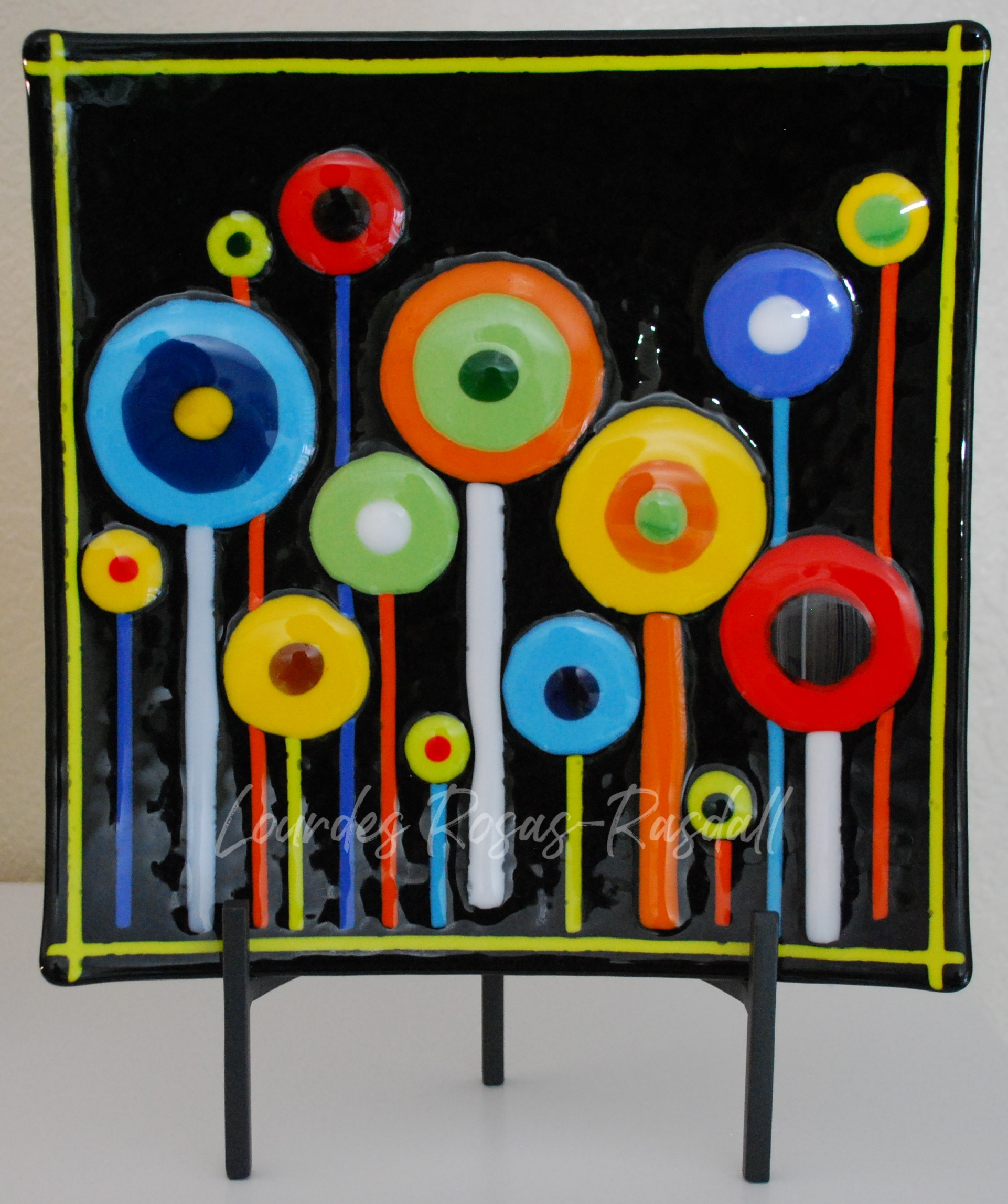 Lollipoppies | Colorful Fused Glass Artwork