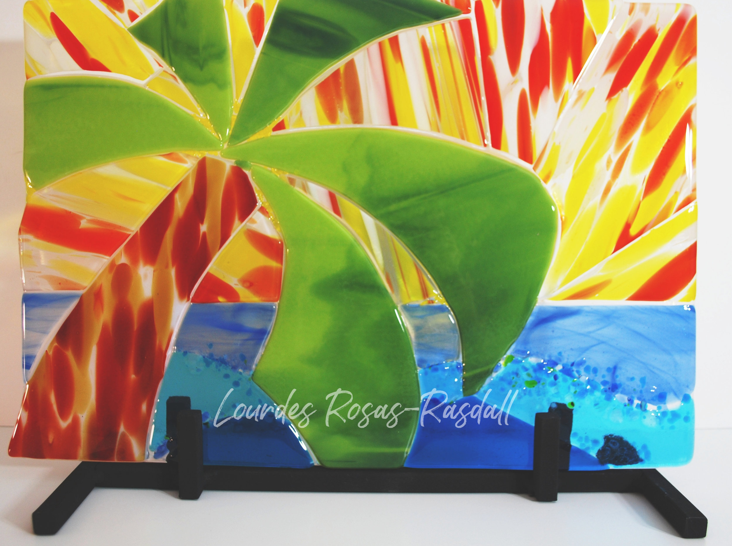 Sunset 2015 | Tropical Fused Glass Art