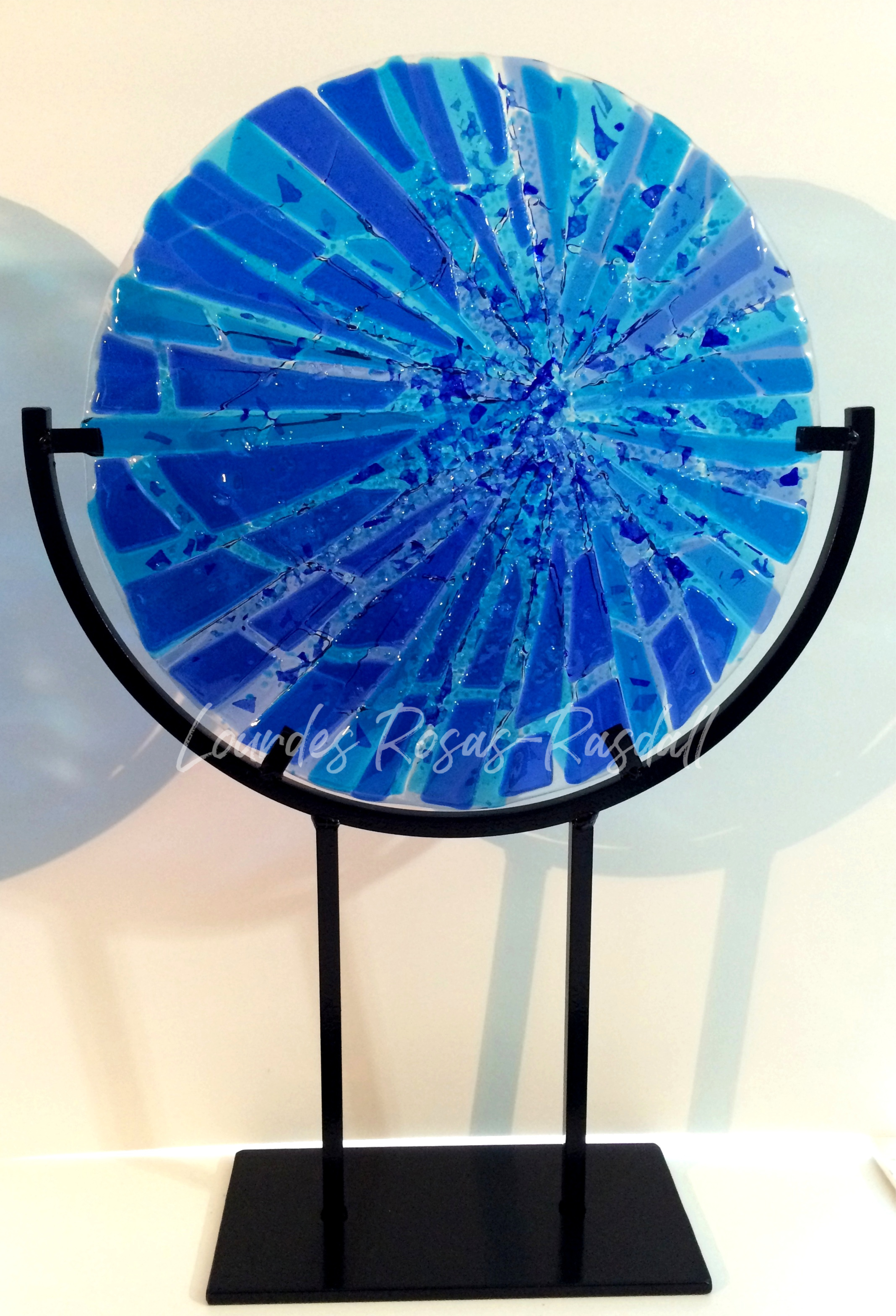 UoM award | Custom Fused Glass Award