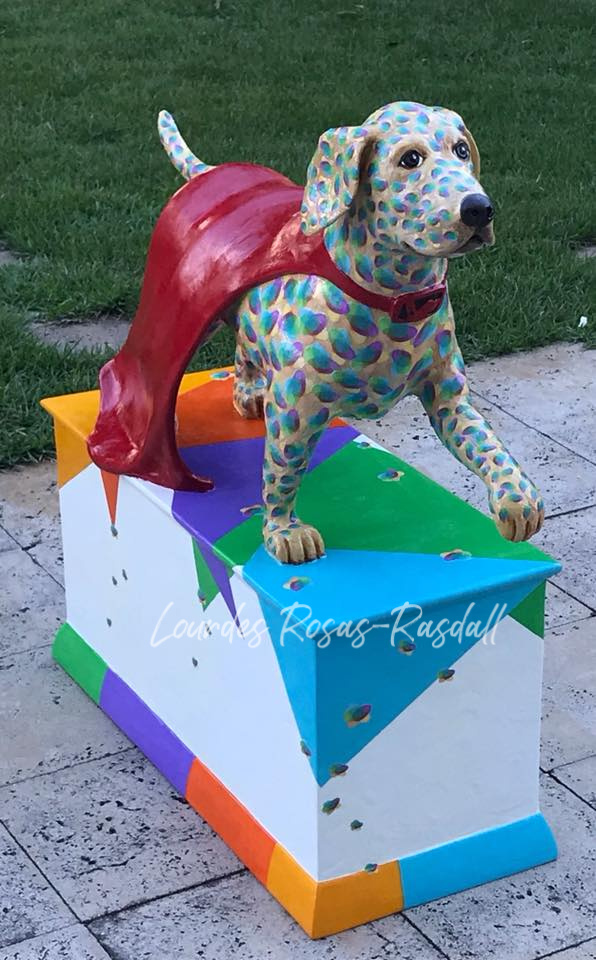 Guide Dog custom Painted Charity Art Project