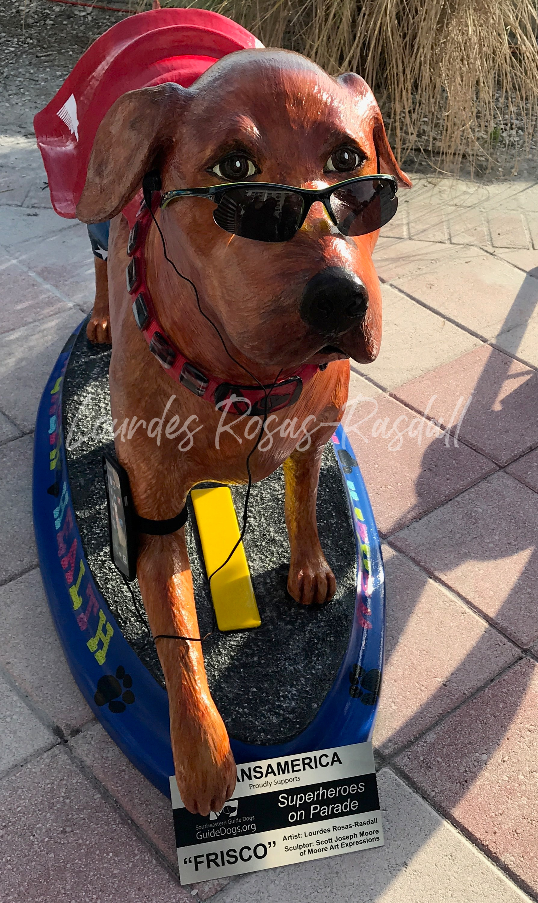 Custom Painted Guide Dog Statue | Charity Project