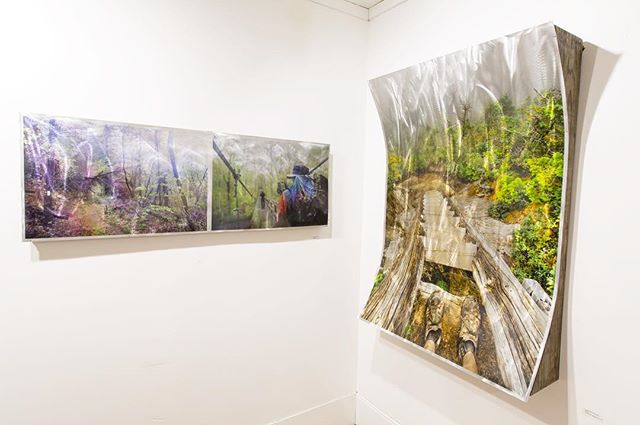 In Passing, Goose Eye Mountain Aluminum Murals 2016 -- The Thru Project is pleased to announce the launch of the @thewandertrees Gallery and Craft store with @thethruproject showing in the main gallery until the end of June. Come and check us out, #thethruprojectbook will be on hand for sale! -- #appalachiantrail #thruhike #joshuaniven #thewandertrees #virginia #whiteblaze