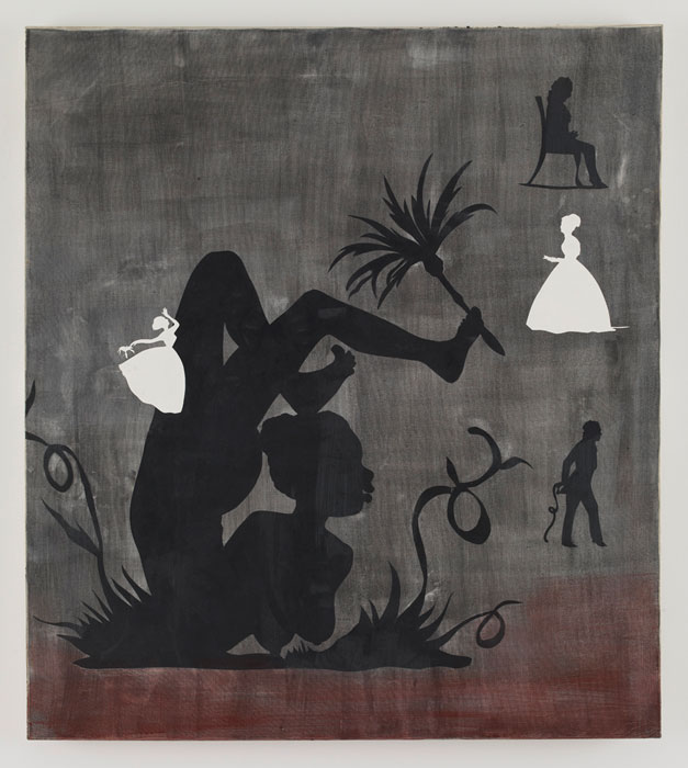 KARA WALKER    Fanny , 1994 Acrylic and paper on canvas 54 x 48 inches