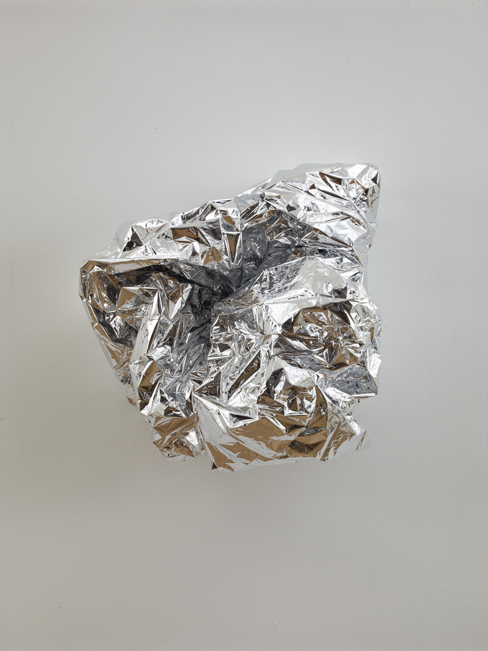 TONY FEHER   Konder Massif , 2013 Mylar rescue blanket 21 x 19 x 13 inches