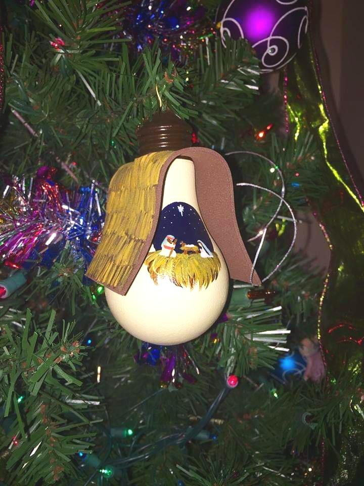 Christmas Ornament - Manger Scene #1