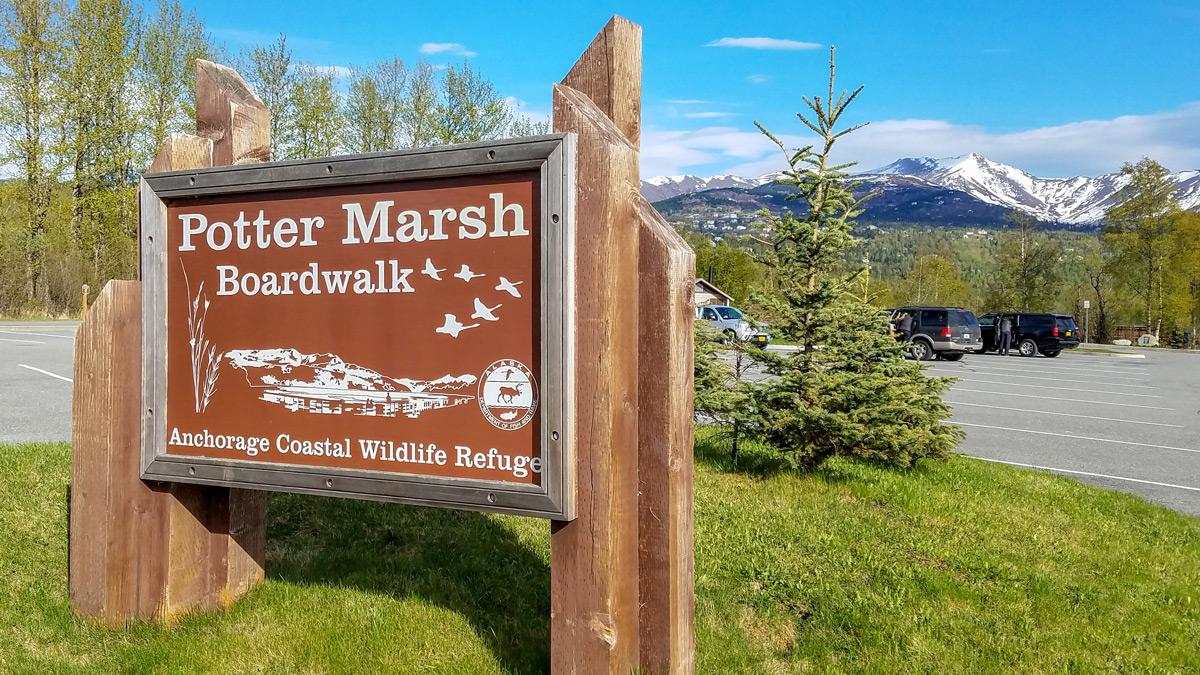 Potter Marsh Boardwalk Sign