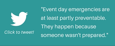 event day emergencies