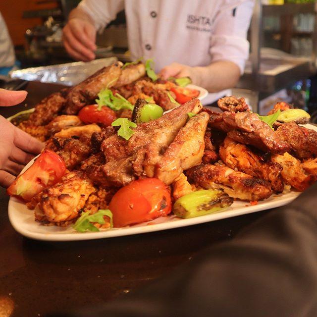 Meat Feast platter @ishtahlondon #bbq #meditarean