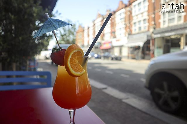 Hottest day in london so far 🥵 come and have a refreshing cocktail 🍹 ☀️ #london #turkishfood #finchley #finchleycentral #cocktails