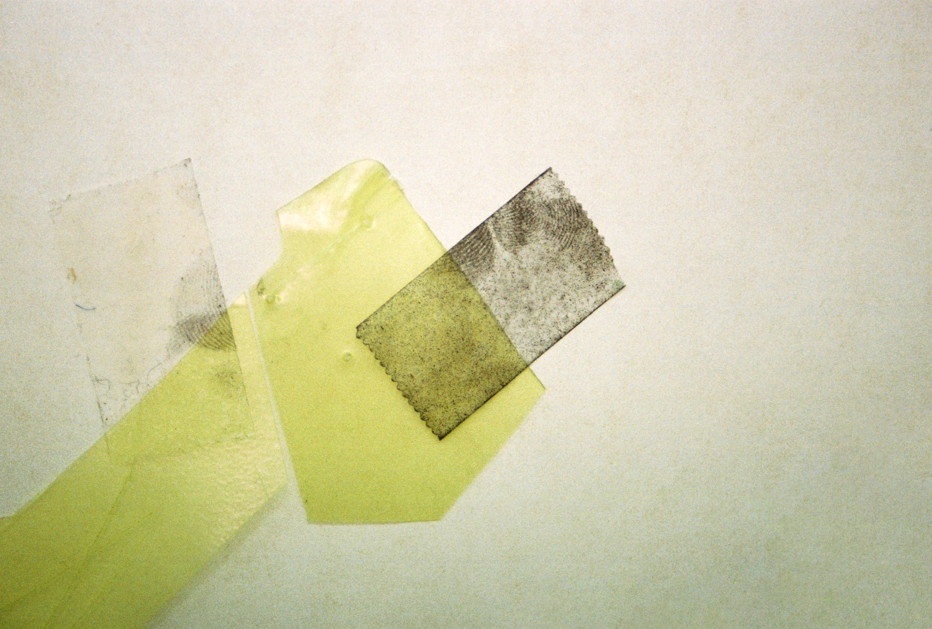 pellucid scraps  [detail] plastic, graphite, tape and tea on archival newsprint 174cm wide x variable length