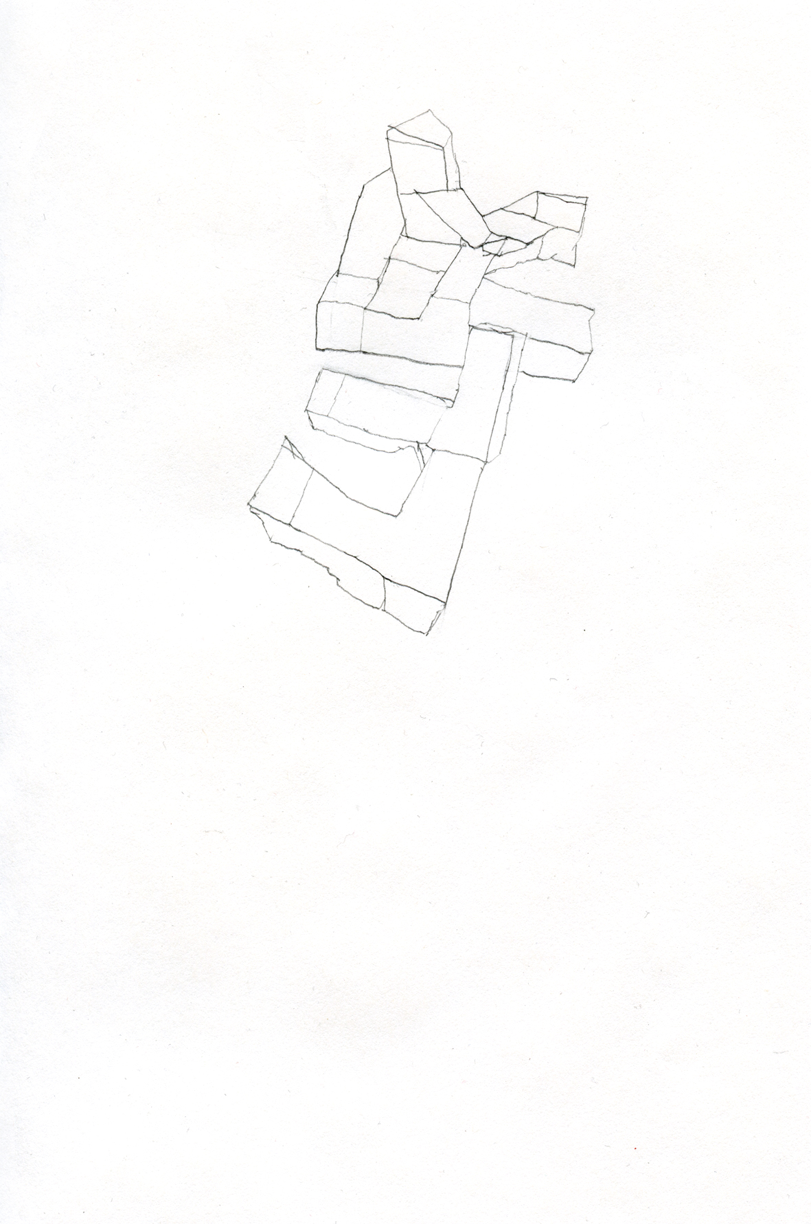 untitled drawing pencil on paper, 15 x 21 cm