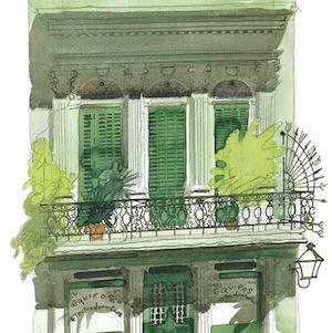 #6 - Paul Hogarth's juicy verdant green dripping balcony.