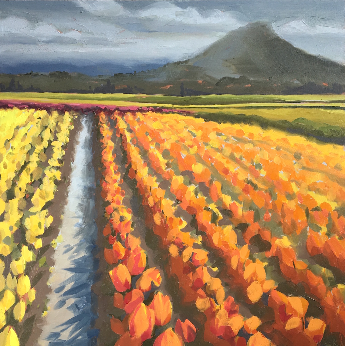 Skagit Valley Tulips Oil Painting