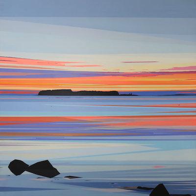 #4   Greta Van Campen's  straked washi tape sunset