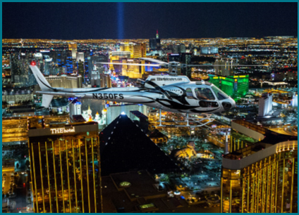 Helicopter over Vegas Strip