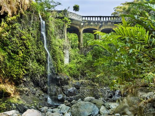Upper Waikuni Falls on Maui Island