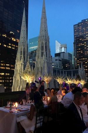 A dinner for our guests overlooking the rooftops of New York