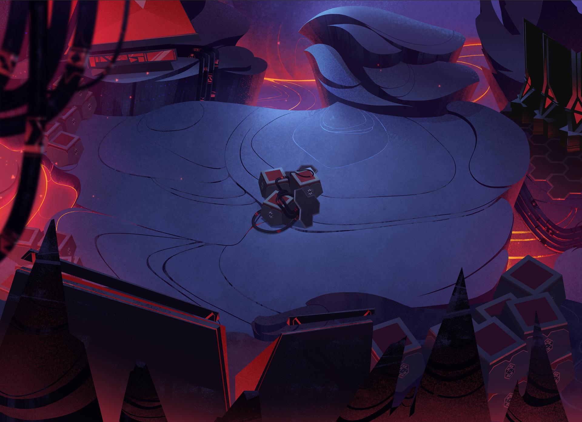 Battlemap - Volcano Lava Tubes