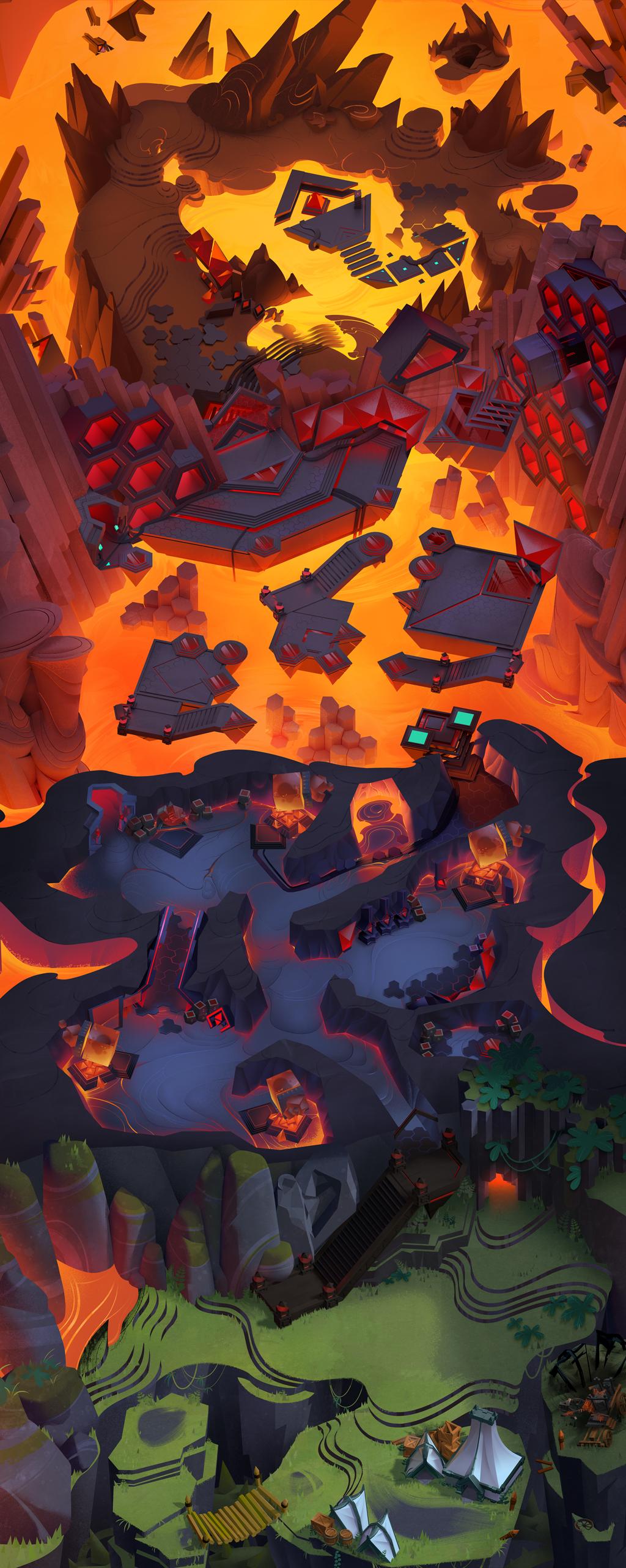 Overworld Map - Volcano
