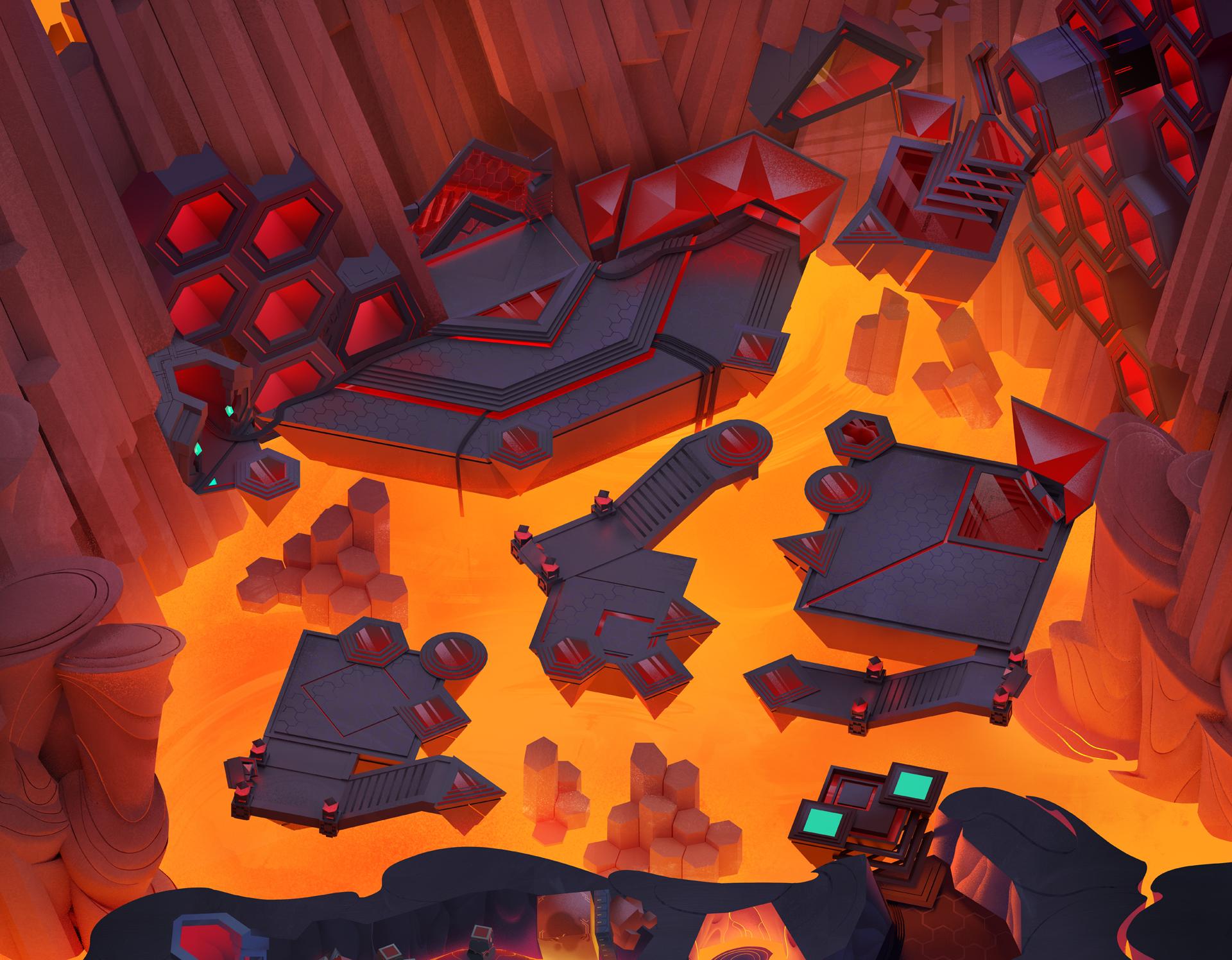 Volcano - Teleporter Puzzle