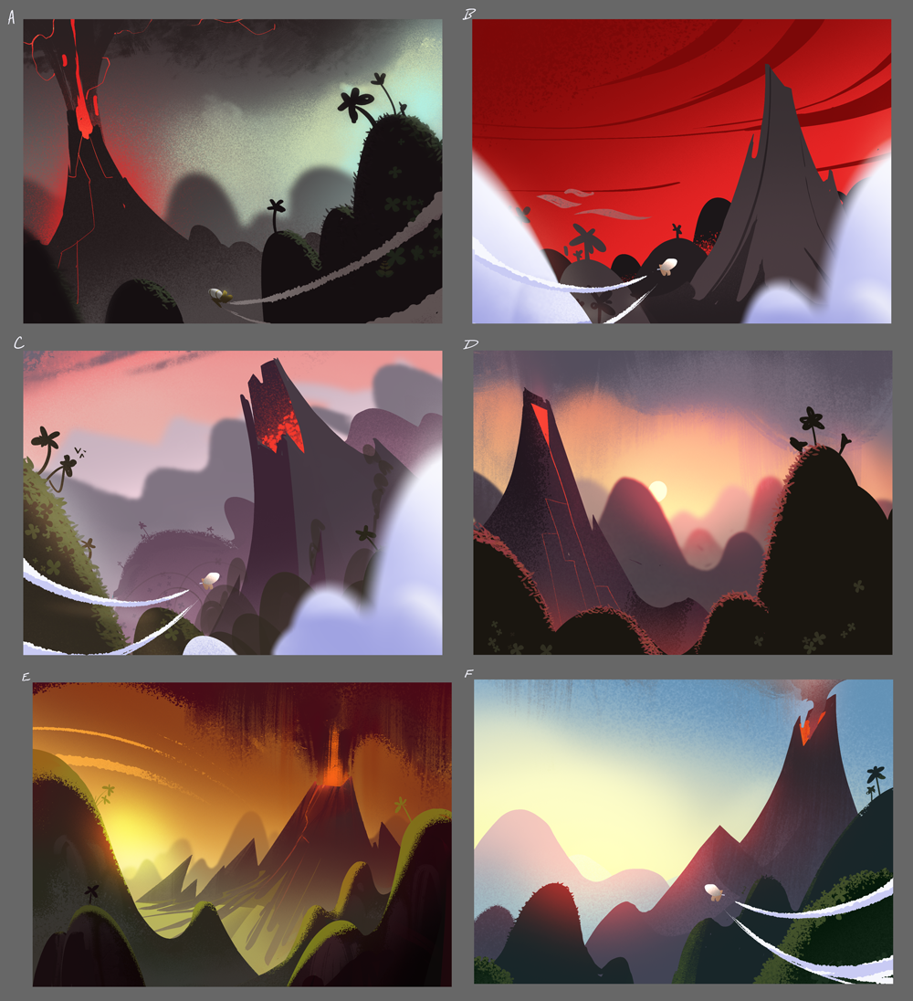 Volcano - Development Thumbnails