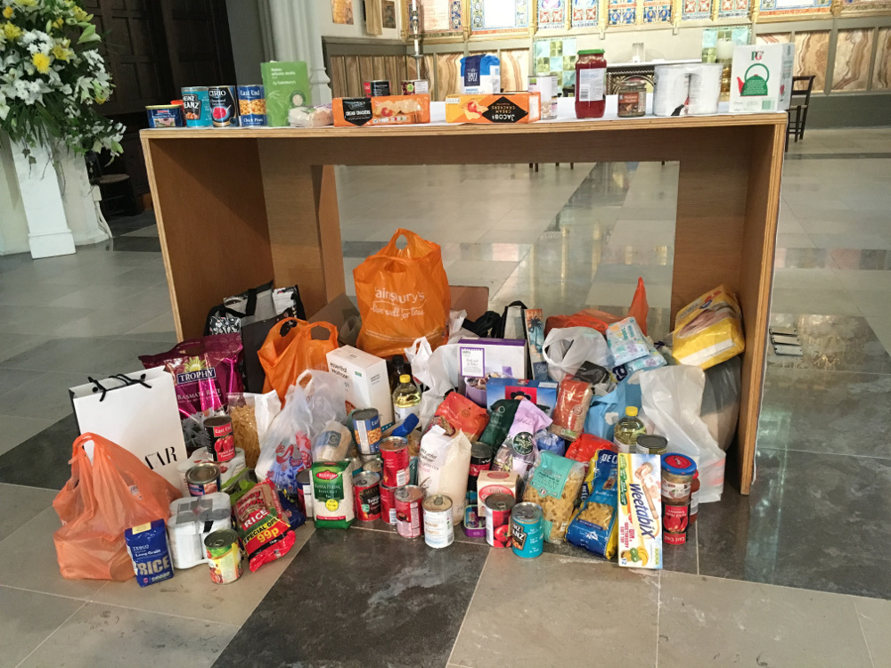 Harvest Gifts collected for the West London Day Centre