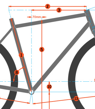 Measurements #2 and #3 have to do with your extension and reach on the bike. #5 is the standover height.