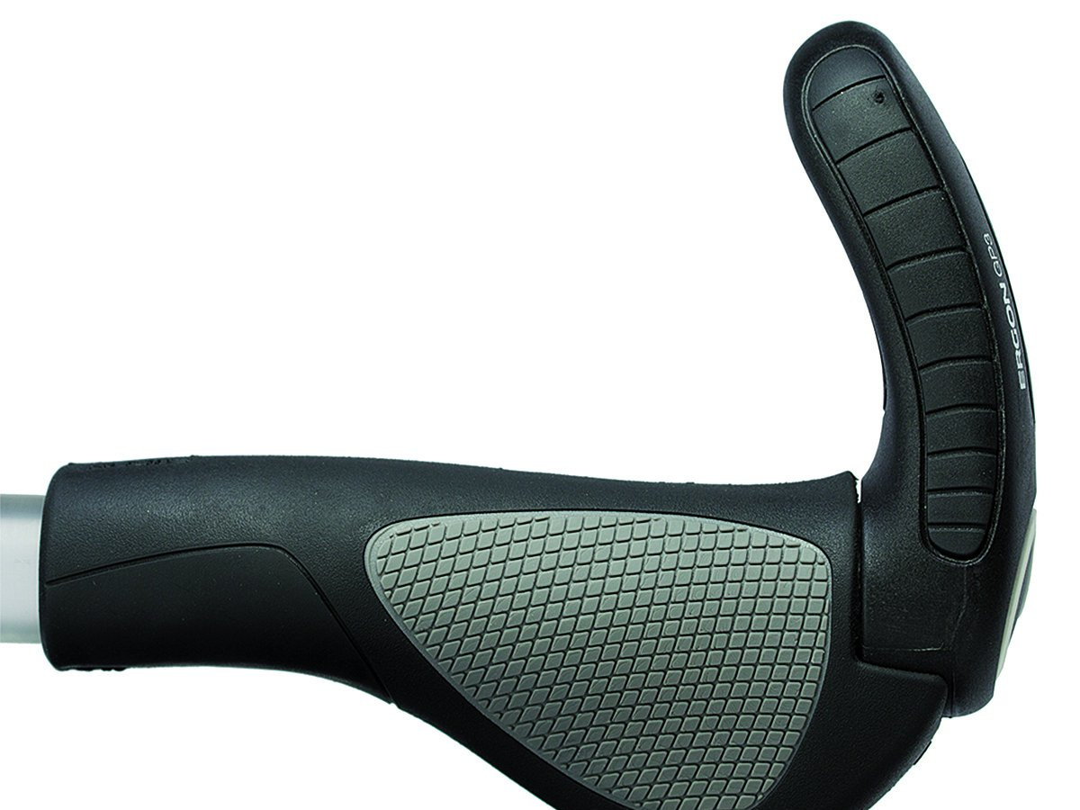 Ergon grips with integrated bar-end