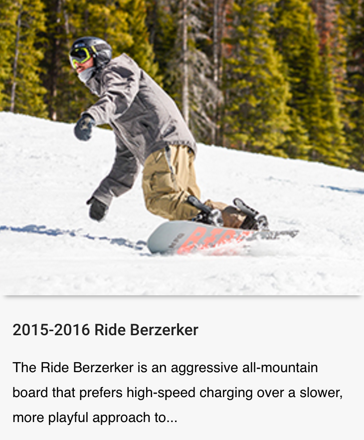 Review of the Ride Berzerker published by Blister Gear Review