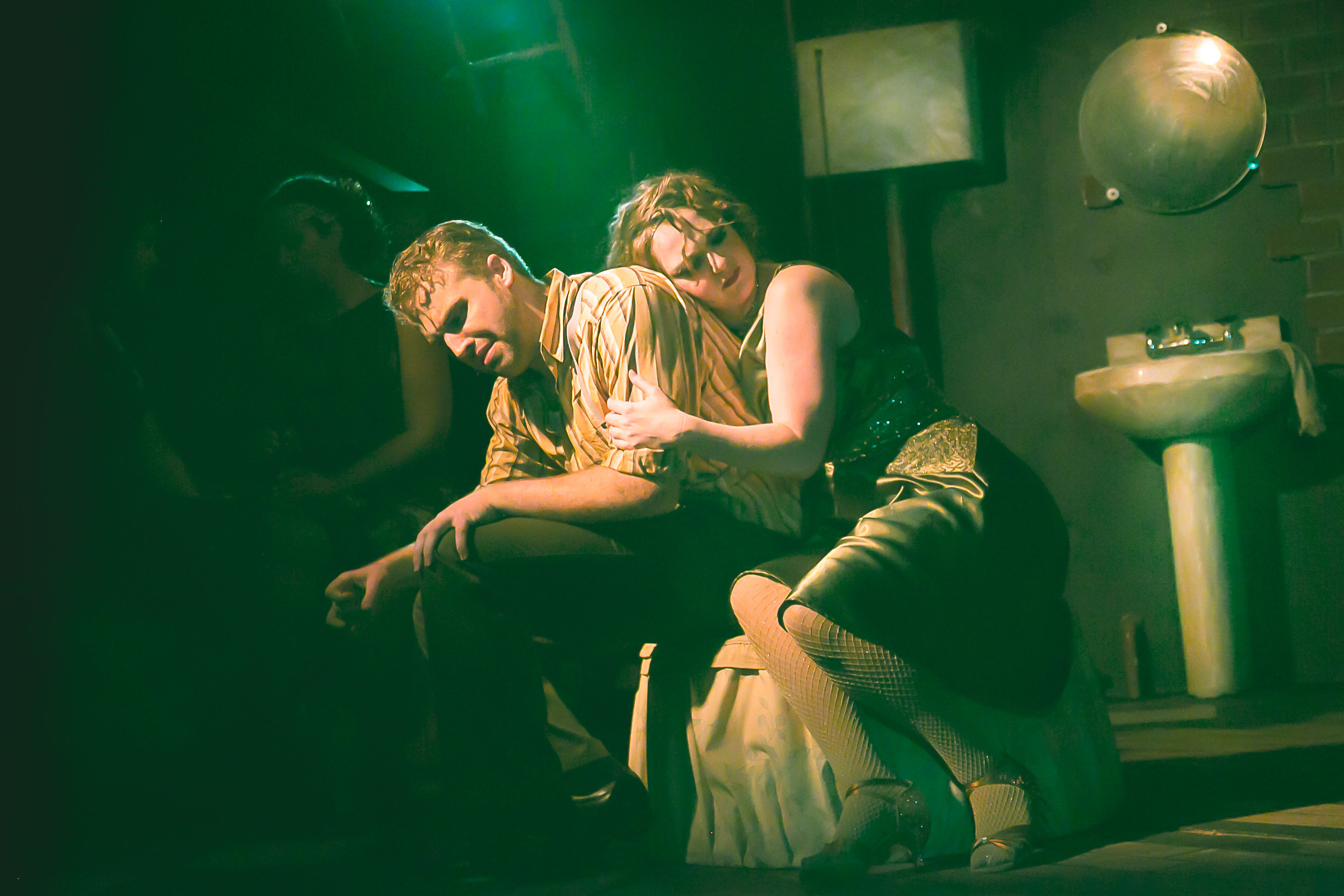Daniel McKeever and Alyssa Day in The Modern Theater-Spokane's 'The Wild Party'