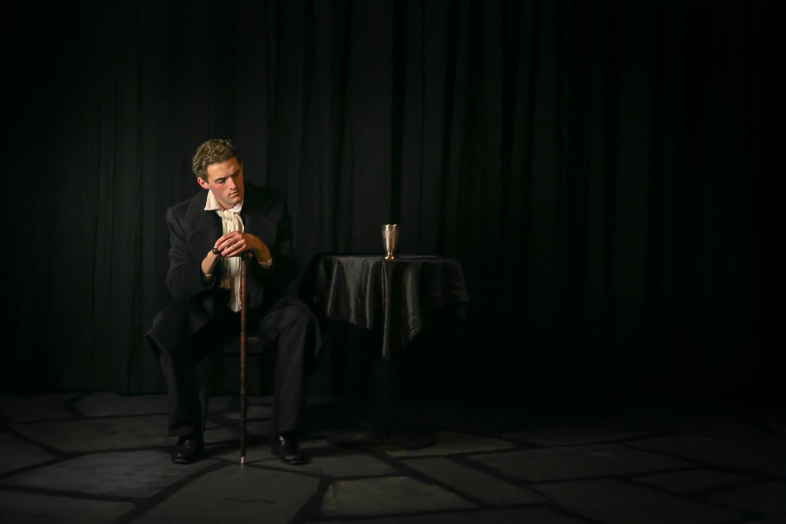 Aaron Baldwin as Marius in 'Les Miserables'