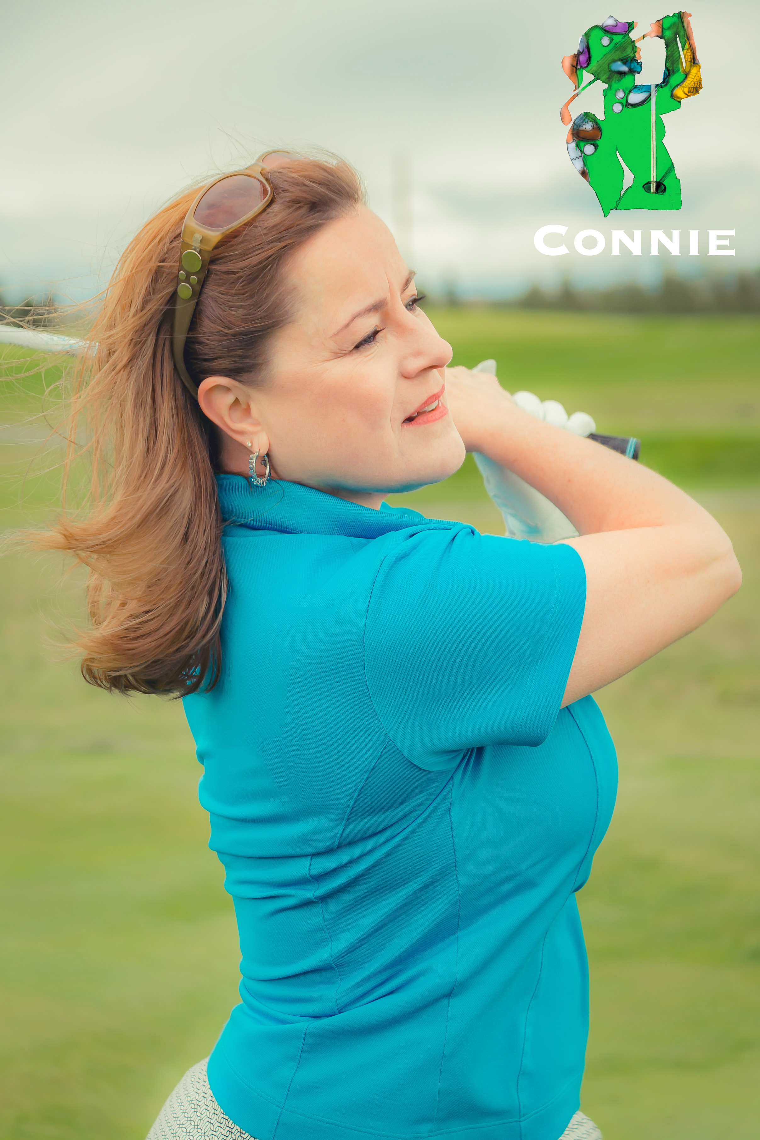 Callie McKinney Cabe as Connie in The Ladies Foursome