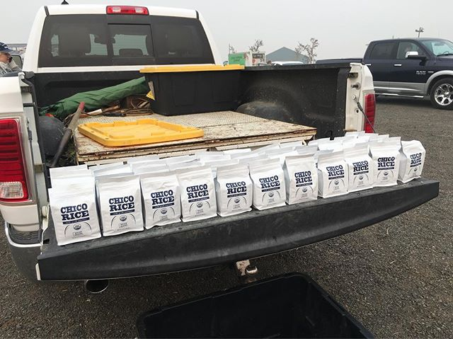 We are handing out free bags of Chico Rice for evacuees and those hosting evacuees from the #CampFire from 2pm to 4pm today at the insurance popup on Market Place and East 20th Street in Chico!