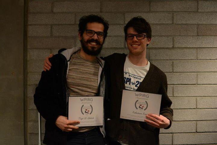2014 Social Justice Award Recipients Majd (left) and Rob (right)