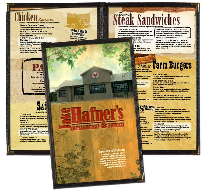 Jake Hafner's Menu Redesign, 8.4 X 14 In Cafe Menu Covers